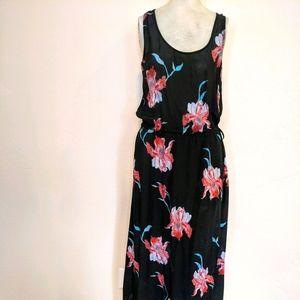 Tolani black floral  maxi dress